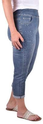True Blue Embellished Stone Capri