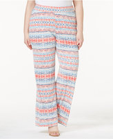 NY Collection Plus Size Printed Palazzo Pants