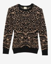 Torn By Ronny Kobo Oversized Animal Jacquard Sweater