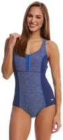 Speedo Women's Endurance+ Texture Touchback One Piece Swimsuit 8149358