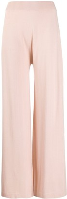 Agnona Knitted High-Waisted Trousers
