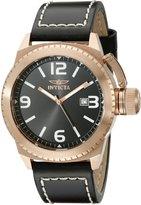 Invicta Men's 1112 Corduba Collection Black Dial Black Leather Watch
