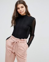 B.young Long Sleeve Lace Top