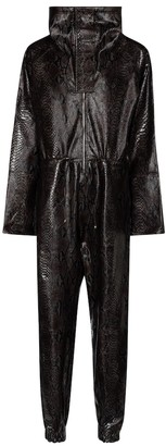 Dodo Bar Or Snake-effect leather jumpsuit