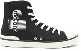 Isabel Marant Benkeen Logo High-top Canvas Trainers - Black