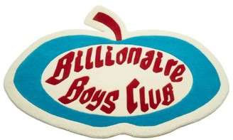 Billionaire Boys Club Apple Logo Shearling Rug - White Multi