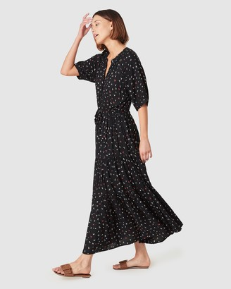 French Connection Midi Ditsy Tiered Dress