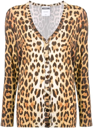Moschino Animal Print Cardigan