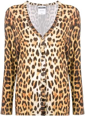 Moschino animal print cardigan