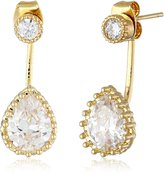 A.V. Max Crystal Pear Shape Front Back Earring Jackets