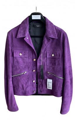 Amiri Purple Suede Jackets