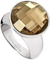 Tamaris Women's Ring Stainless Steel Glass Jane Brown Size 54 (17.2)-A03510073
