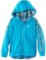adidas Girls 4-6x Hooded Tricot Lightweight Jacket
