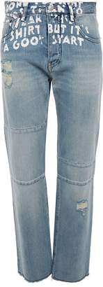 MM6 MAISON MARGIELA Dre Frayed Boyfriend Jeans