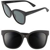 Quay Women's 'It's My Way' 55Mm Oversize Sunglasses - Black/ Purple