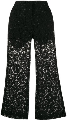 Valentino Sheer Lace Trousers