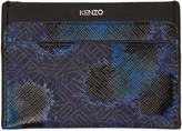 Kenzo Blue Leopard Card Holder
