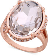 GUESS Oval Crystal Cocktail Ring