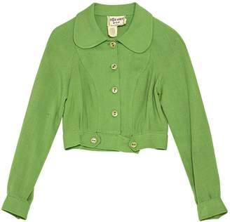 N. Non Signé / Unsigned Non Signe / Unsigned \N Green Linen Jackets