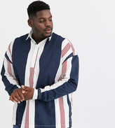 Asos Design DESIGN Plus oversized rugby shirt in 90s vintage stripe