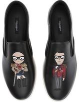Dolce & Gabbana Patches Slip-On Sneaker Men's Slip on Shoes