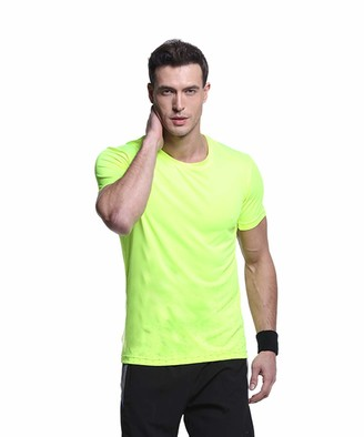 Equipment Quick Drying Short Sleeve Round Neck Casual & Active Basic T-Shirt for Man Green
