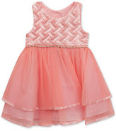 Rare Editions Basketweave Ballerina Dress, Baby Girls (0-24 months)
