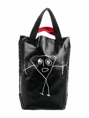 Plan C Polyester Adjustable Strap Tote Bag Black Polyester Adjustable Strap Tote Bag