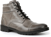 GBX Gray Snakeskin Cap Toe Leather Boot