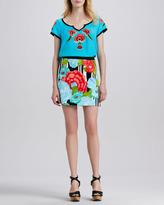 Nanette Lepore Flamenco Floral-Print Skirt