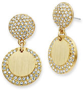 Jenny Packham Goldtone Disc Drop Earrings