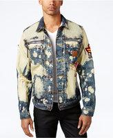 Heritage America Men's Decorated Bleached Denim Jacket