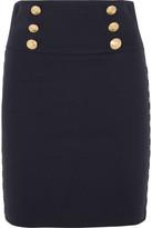 Pierre Balmain Chain-embellished Cotton-blend Twill Mini Skirt - FR36
