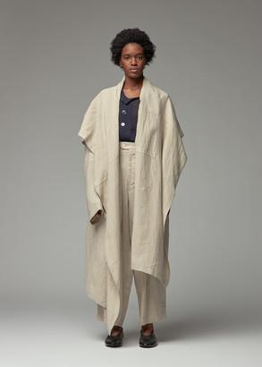 Y's by Yohji Yamamoto Women's Back Knot Coat in Beige Size 1