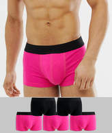Asos Design ASOS DESIGN short trunks in pink and black 5 pack