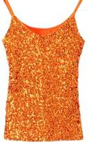 URqueen Women's Fashion Sequins Embellished Clubwear Tank Top