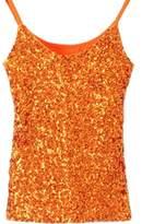 URqueen Women's Spaghetti Strap Sequins Clubwear Tank Top