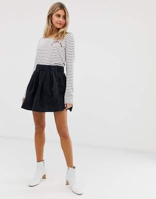 Minimum Moves By corduroy skirt-Navy