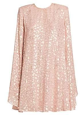 Stella McCartney Women's Leopard-Print Babydoll Dress