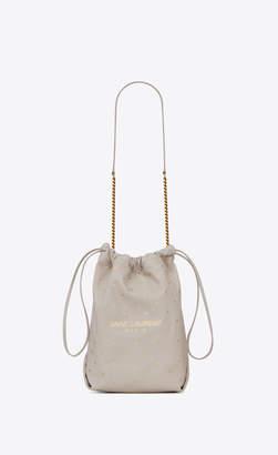 Saint Laurent Bucket Bag Teddy Bucket Bag In Lambskin Printed With Little Stars Vintage White Onesize
