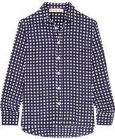Marni Checked Silk Shirt - Navy