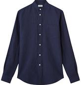 Jigsaw Italian Cotton Linen Grandad Collar Shirt