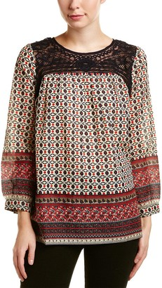 French Connection Women's Ity Lace Mix Top