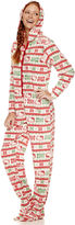 Asstd National Brand Long Sleeve Footed Pajamas-Juniors