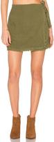 Bella Dahl Frayed Wrap Skirt