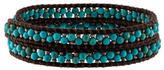 Chan Luu Turquoise & Silver Bead Wrap Bracelet