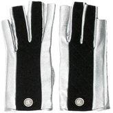 Chanel Metallic CC Gloves