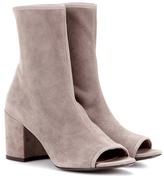 Stuart Weitzman Bigkoko Bingo Leather Peep-toe Ankle Boots