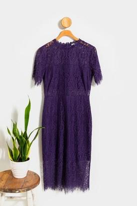 francesca's Malorie Lace Midi Dress - Burgundy