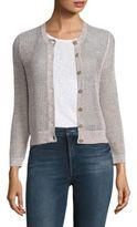 Theory Tamvi Cotton & Linen Cardigan